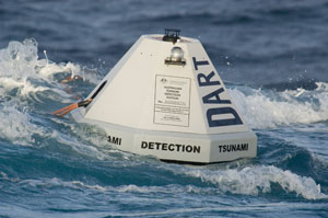 DART buoys are a part of a tsunami early warning system