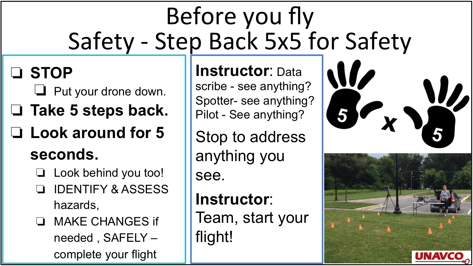 Safety before you fly