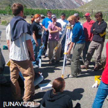 students working in a field education course