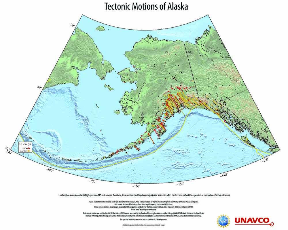 Exploring Tectonic Motions of Alaska & Western United States ...