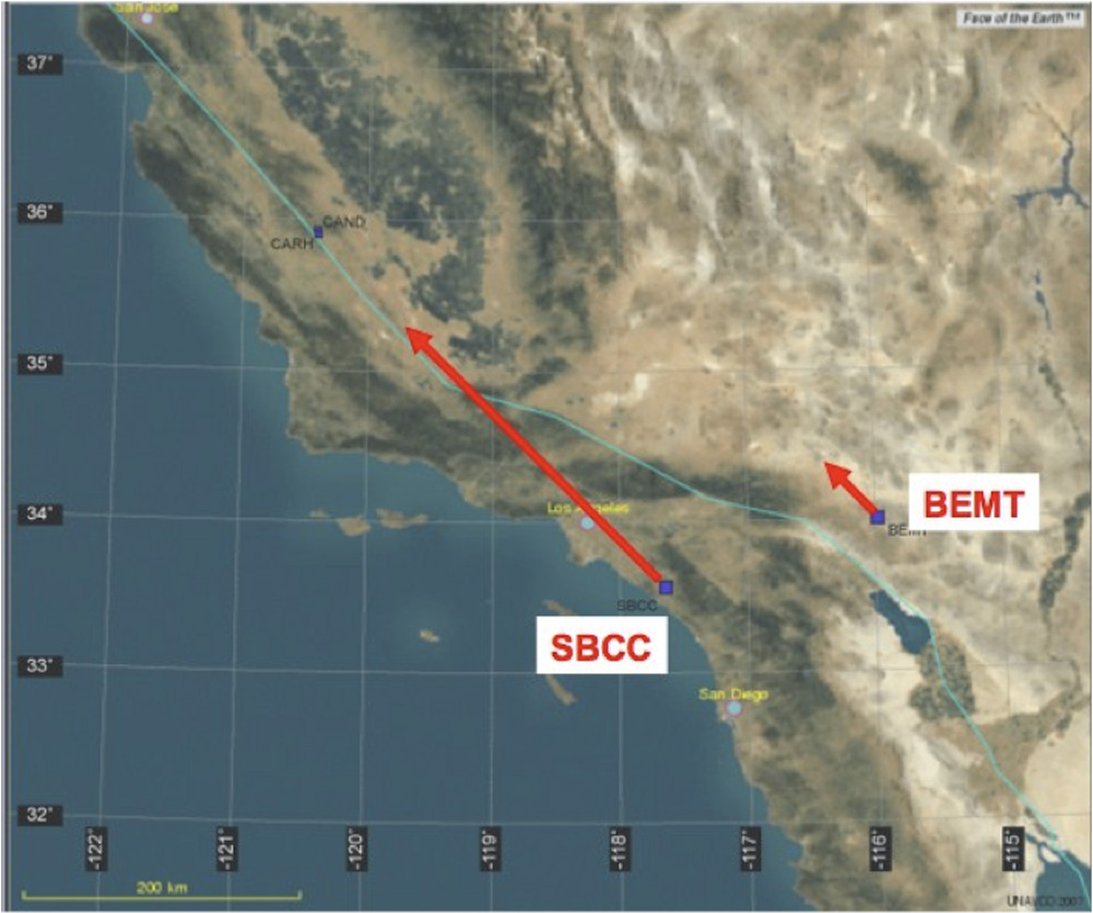 Plate Boundaries in California Two Plate Boundary Observatory