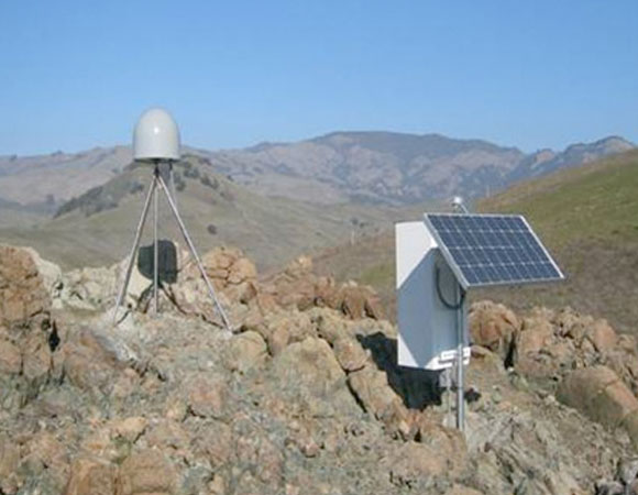 GPS station in a remote location, part of the Plate Boundary Observatory.