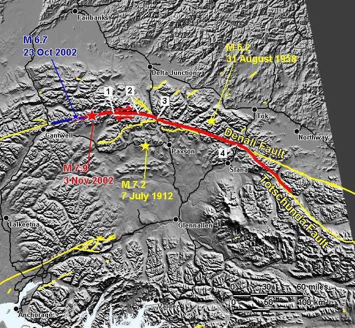 alaskan magnitude 7 9 denali fault earthquake of november 3 2002 unavco