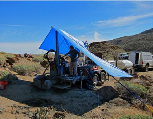 Accelerometer Drilling in Borrego Springs, California.
