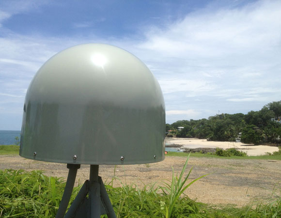 COCONet GPS site CN28 on Contadora Island. Photo provided by Mike Fend.