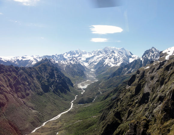 A glaciated valley just outside of Fox Glacier, NZ. Photo by Keith Williams.