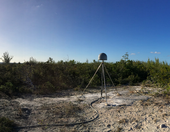 Panorama of completed site CN14 on on Great Inagua, Bahamas. Photo by John Sandru, UNAVCO.