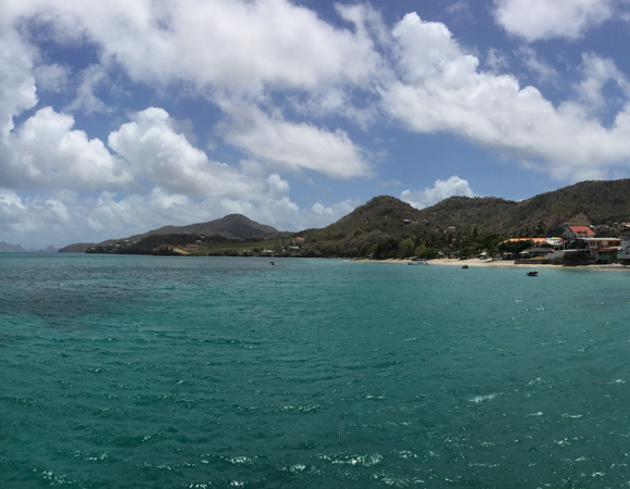 Two hours later, arriving at the docks in Carriacou. (Photo by Jacob Sklar, UNAVCO)