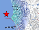 Mw 6.8 Earthquake 77 km WNW of Ferndale, California