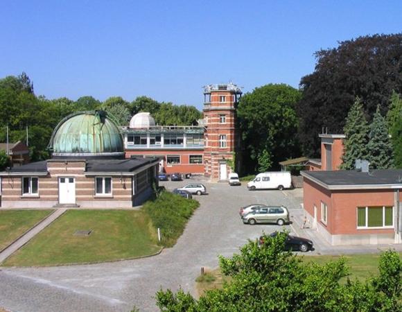 European Permanent Network (EPN) GPS site BRUX in Brussels, Belgium. Photo: Royal Observatory of Belgium.