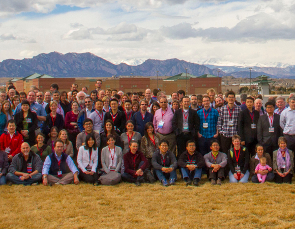 More than 240 participants and one baby (future geodesist?) attended the 2014 UNAVCO Science Workshop in Broomfield, Colorado. (Photo/Travis Bildahl)