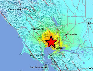 Data Event Response to the 24 August 2014 Mw 6.0 South Napa Earthquake - 6km NW of American Canyon, California
