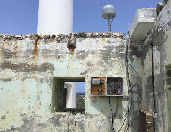 Overview of COCONet station CN51 on Sombrero Island, Anguilla. (Photo/John Sandru, UNAVCO)