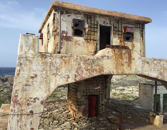 One of several old lighthouses on Sombrero Island, Anguilla. (Photo/John Sandru, UNAVCO)