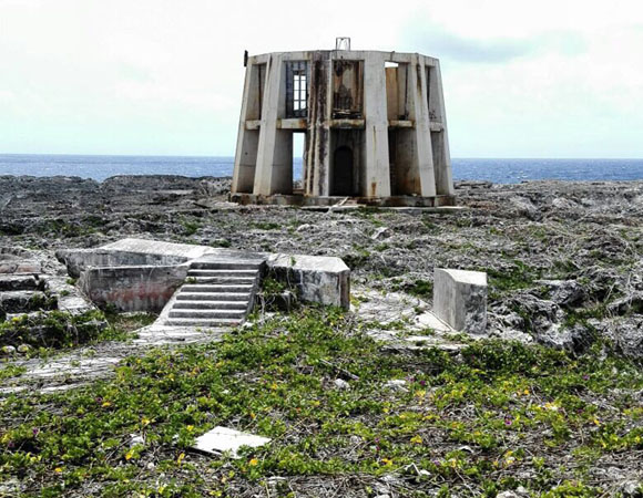 One of several old lighthouses on Sombrero Island, Anguilla. (Photo/John Sandru, UNAVCO)