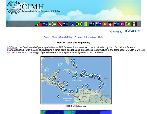 The Regional Data Center homepage at CIMH to provide COCONet data.