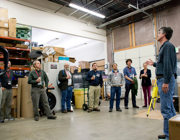 Workshop participants on a tour of UNAVCO. (Photo by Beth Bartel, UNAVCO)