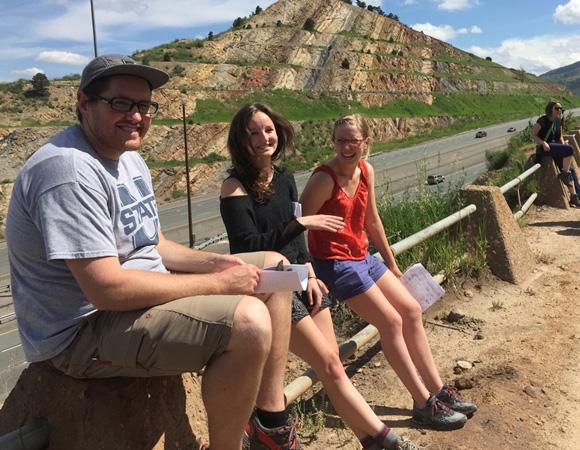USIP interns on the field trip to Morrison, Colorado. (Photo/Beth Bartel, UNAVCO.)