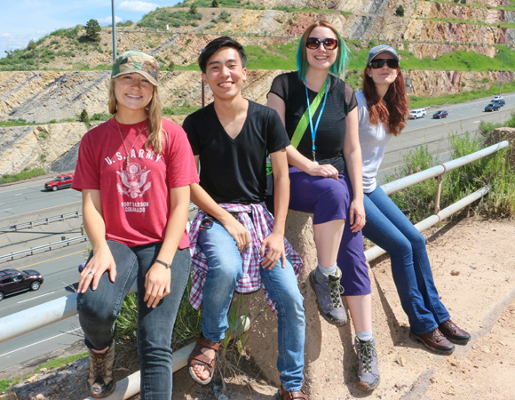 2015 Geo-Launchpad interns on the field trip to Morrison, Colorado. (Photo/Benjamin Gross, UNAVCO)