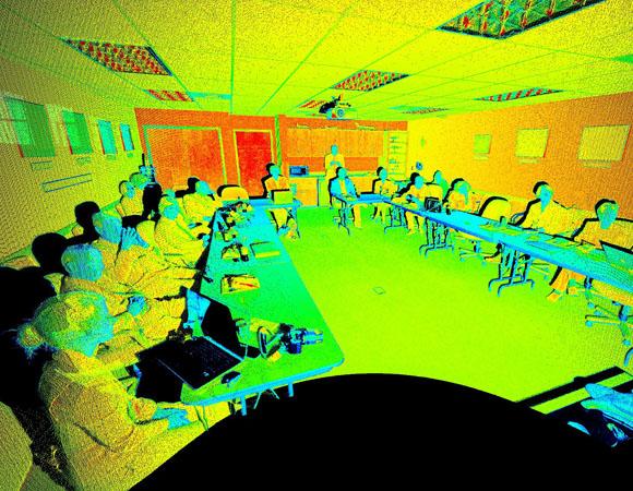 Scan demonstrating terrestrial laser scanning (TLS) capabilities. (Scan and screen capture by Marianne Okal, UNAVCO)