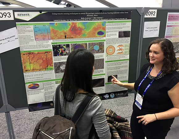 2015 RESESS intern Molly Anderson presents her summer research at AGU 2015. Check our schedule, linked from this page, for RESESS presentations at AGU 2016, as well as presentations by UNAVCO staff and colleagues.
