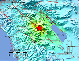 Data Event Response to the 10 June 2016 Mw 5.2 Earthquake 20km NNW of Borrego Springs, California