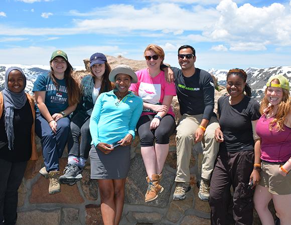 2016 RESESS interns and Aisha Morris, UNAVCO. Estes Park, Colorado, June 10, 2016.