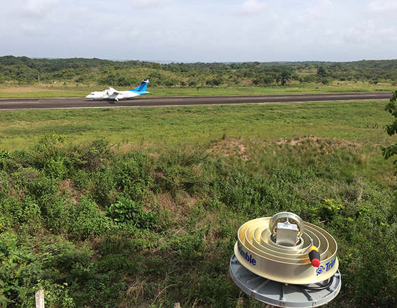 Ready to install a refurbished LNA for COCONet station CN30 at Bluefields, Nicaragua. (Photo/Mike Fend, UNAVCO)