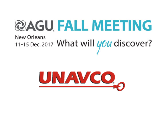 Join UNAVCO at the annual Fall Meeting of the American Geophysical Union in New Oreleans, Louisiana.