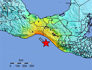 September 8, 2017 M8.1 Earthquake 87km SW of Pijijiapan, Mexico Data Event Response