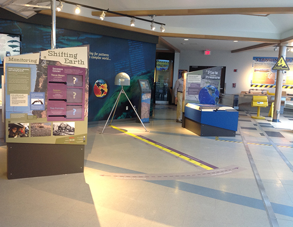 The Monitoring a Shifting Earth exhibit was installed at Hatfield Marine Science Center, Newport, Oregon in 2014 and has had over 200,000 visitors since its installation. (Photo/Nancee Hunter, OSU)