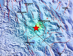 Data Event Response to the December 28, 2016 M5.7 earthquake 29km WSW of Hawthorne, Nevada