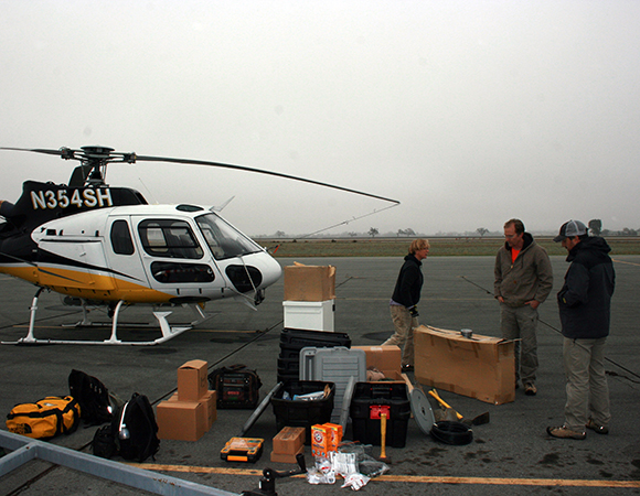 Field Engineering is at least 70% preparation. The cost and weight restrictions of helicopter operations make this element even more important. (Photo/PBO SW region, UNAVCO)