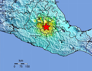 September 19, 2017 M7.1 Earthquake 5km ENE of Raboso, Mexico Data Event Response