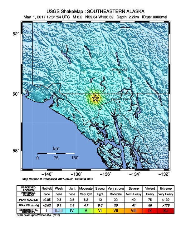 Data Event Response to the May 1, 2017 M6.2 Earthquake 88km WNW of ...