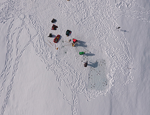 UNAVCO UAS Completes Survey of Cryoconite Holes on Antarctic Glacier