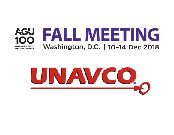 Join UNAVCO at the annual Fall Meeting of the American Geophysical Union in Washington, D.C.