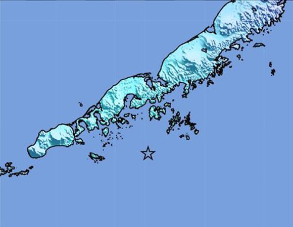 USGS ShakeMap for the July 19, 2018 Mw 6.0 earthquake 92km WSW of Chernabura Island, Alaska. (Figure from USGS.)