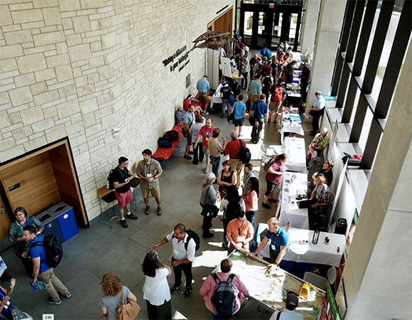 The opening hall of the Earth Educators\' Rendezvous, on the University of Kansas campus. (Photo/NAGT)