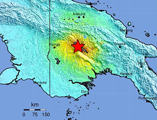 Data Event Response to the February 25, 2018 M 7.5 Earthquake 81km SW of Porgera, Papua New Guinea