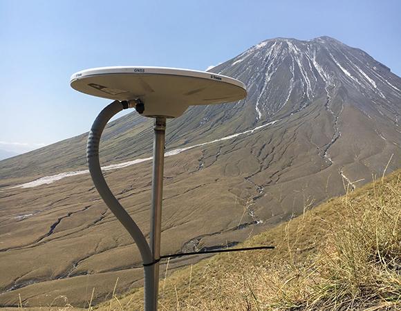 A continuous GPS station at Ol Doinyo Lengai volcano, Tanzania. (Photo/D. Sarah Stamps, Virginia Tech)