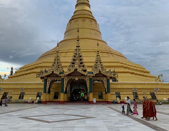 The Uppātasanti Pagoda in Naypyidaw, the capital of Myanmar. (Photo/Keith Williams, UNAVCO)