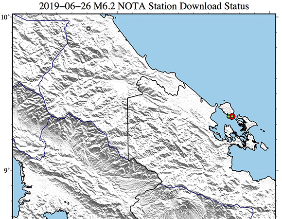 Data Event Response to the June 26, 2019 M6 2 Earthquake 5km SE of