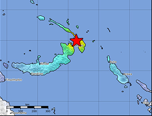 Data Event Response to the May 14, 2019 M 7.5 Earthquake, 45km NE of Kokopo, Papua New Guinea