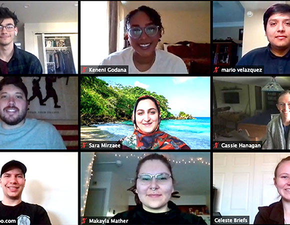 Welcome 2020 UNAVCO interns! Twelve students from all three internship programs are participating remotely from their home locations in light of the COVID-19 pandemic. (Photo/UNAVCO)