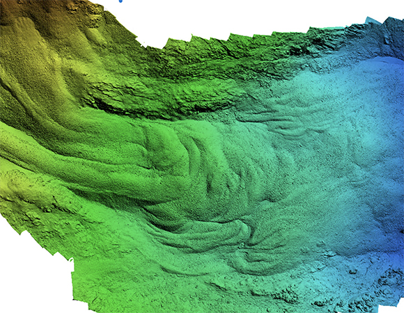 Digital elevation model of the full rock glacier as collected by the UAS. (Image/Keith Williams, UNAVCO)