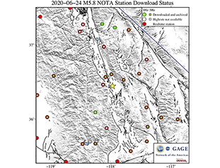 Data Event Response to the June 24, 2020 M 5.8 Earthquake 18km SSE of Lone Pine, CA