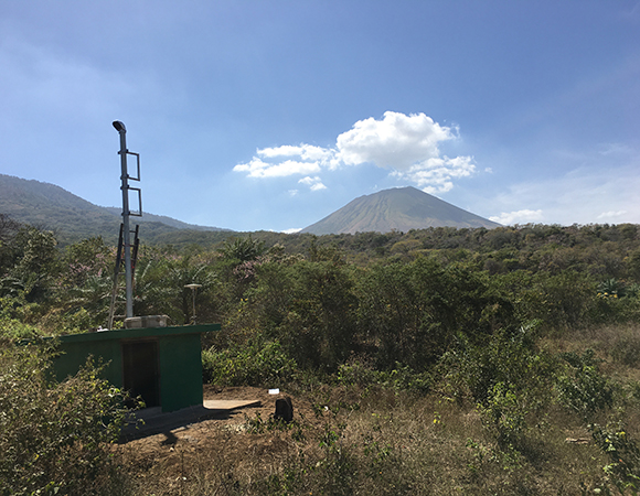 San Cristobal Seismic Station Norte (SCSN), Santa Cruz. Location of future cGPS station. (Photo from Jim Normandeau, UNAVCO)
