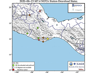Data Event Response to the June 23, 2020 M 7.4 Earthquake 12 km SSW of Santa María Zapotitlán, Mexico