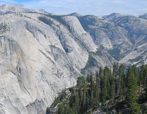 The Sierra Nevada has gone through kilometers of rock uplift over the last several million years. Credit: Bill Hammond